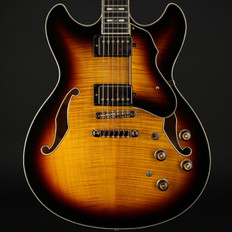 Ibanez AS153 Artstar Semi-Hollow Electric Guitar in Antique Yellow Sunburst with Case - Used