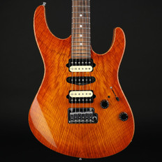 Suhr GuitarGuitar Select #54 Modern Trans Honey Amber Burst Angel Flame Top #28076 - Used
