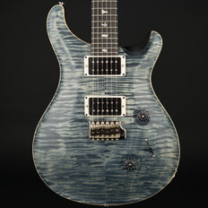 PRS Custom 24 10 Top in Faded Whale Blue Satin Nitro with Pattern Thin Neck, 85/15 Pickups #237053
