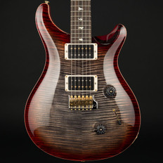 PRS Custom 24 10 Top in Charcoal Cherry Burst with Stained Flame Maple Neck, 85/15 Pickups #246093