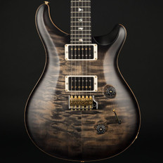 PRS Custom 24 Wood Library 10 Top Quilt in Charcoal Burst Satin, 85/15 Pickups #244937