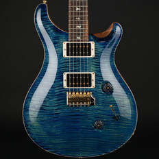 PRS Custom 24 10 Top in River Blue with Stained Flame Maple Neck, 85/15 Pickups #251773