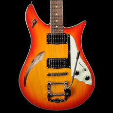 Duesenberg Double Cat in Fireburst with Hard Case