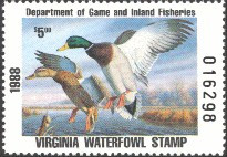 Virginia Duck Stamp 1988 Mallards