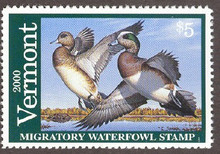 Vermont Duck Stamp 2000 American Wigeon