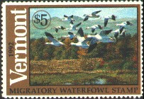 Vermont Duck Stamp 1992 Snow Geese