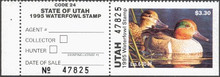 Utah Duck Stamp 1995 Green - Winged Teal Hunter type