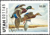 Utah Duck Stamp 1988 Mallards