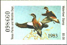 Texas Duck Stamp 1983 American Wigeon