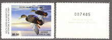 South Carolina Duck Stamp 1987 Black Ducks Hunter variety with serial # on reverse