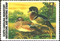 South Carolina Duck Stamp 1981 Wood Ducks
