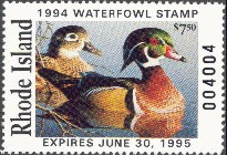 Rhode Island Duck Stamp 1994 Wood Ducks