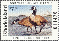 Rhode Island Duck Stamp 1990 Canada Geese