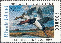 Rhode Island Duck Stamp 1989 Canvasbacks