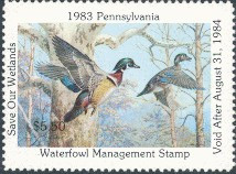 Pennsylvania Duck Stamp 1983 Wood Ducks