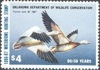 Oklahoma Duck Stamp 1986 Snow Geese