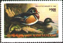 Ohio Duck Stamp 1992 Wood Ducks