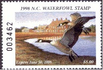North Carolina Duck Stamp 1998 Canada Geese