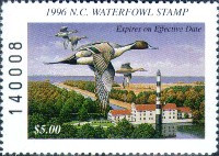 North Carolina Duck Stamp 1996 Pintails