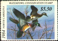 North Carolina Duck Stamp 1984 Wood Ducks