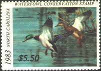 North Carolina Duck Stamp 1983 Mallards