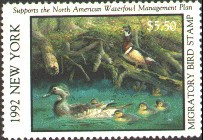 New York Duck Stamp 1992 Wood Ducks