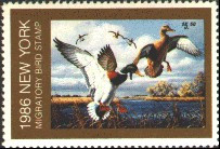 New York Duck Stamp 1986 Mallards