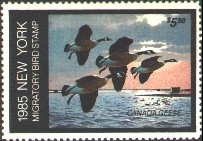 New York Duck Stamp 1985 Canada Geese