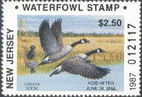 New Jersey Duck Stamp 1987 Canada Geese