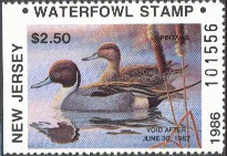 New Jersey Duck Stamp 1986 Pintails Resident Hunter