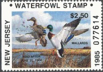 New Jersey Duck Stamp 1985 Mallards Resident Hunter