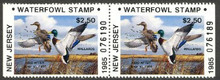 New Jersey Duck Stamp 1985 Mallards Booklet Pair