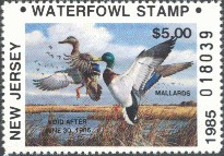 New Jersey Duck Stamp 1985 Mallards Non- Resident