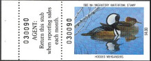 New Hampshire Duck Stamp 1986 Mergansers Hunter type with full tab