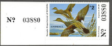 Nevada Duck Stamp 1983 Gadwalls Collector with serial number tab