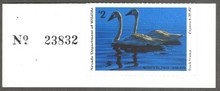 Nevada Duck Stamp 1981 Whistling Swans Collector with serial number tab