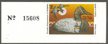 Nevada Duck Stamp 1979 Canvasback / Decoy Collector with serial number tab