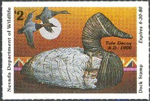 Nevada Duck Stamp 1979 Canvasback / Decoy