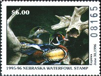 Nebraska Duck Stamp 1995 Wood Ducks