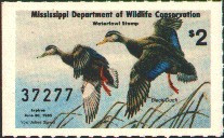 Mississippi Duck Stamp 1984 Black Ducks