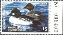 Minnesota Duck Stamp 1987 Goldeneye