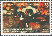 Minnesota Duck Stamp 1984 Wood Ducks