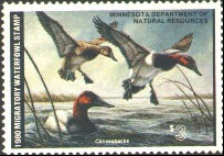 Minnesota Duck Stamp 1980 Canvasbacks