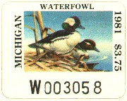 Michigan Duck Stamp 1981 Buffleheads