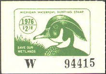 Michigan Duck Stamp 1976 Wood Duck