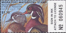 Maryland Duck Stamp 1979 Wood Ducks