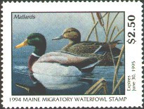 Maine Duck Stamp 1994 Mallards