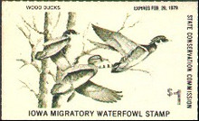 Iowa Duck Stamp 1978 Wood Ducks