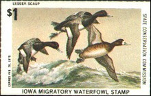 Iowa Duck Stamp 1977 Lesser Scaup