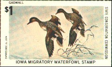 Iowa Duck Stamp 1974 Gadwalls